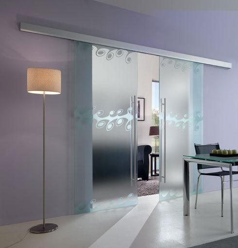 Alutech profily for Porte coulissante en verre pour salle de bain